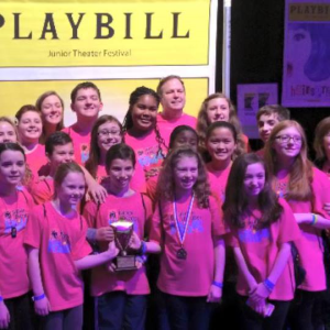 JTF '15 - MTC Cast With 'Excellence In Acting' Trophy