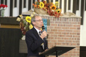 Reverend Richard Nichols of the First Methodist Church in Moorestown speaks during invocation at the Blessing of the Badges event on Tuesday, Sept. 20.