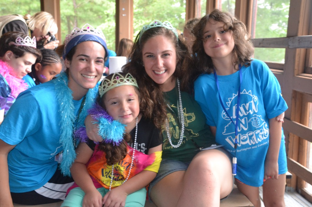 Left to right, counselor, Jessica Lenzo, camper, Johnelyi Contreras, counselor, Nicole Fahs and camper, Christina Ruggia sit together during pottery making time at Camp No Worries on Tuesday, June 28. Fahs is a Seneca High School alumnus and a Shamong resident.