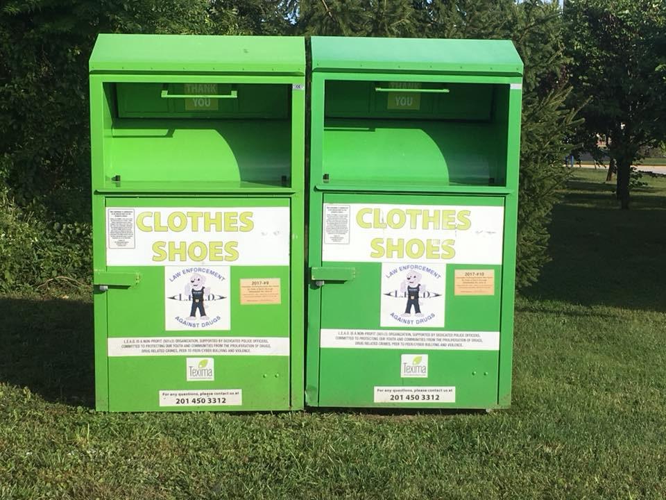 Drop-off bins are located around Berlin.