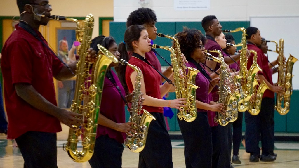Winslow Township High School hosts indoor guard competition