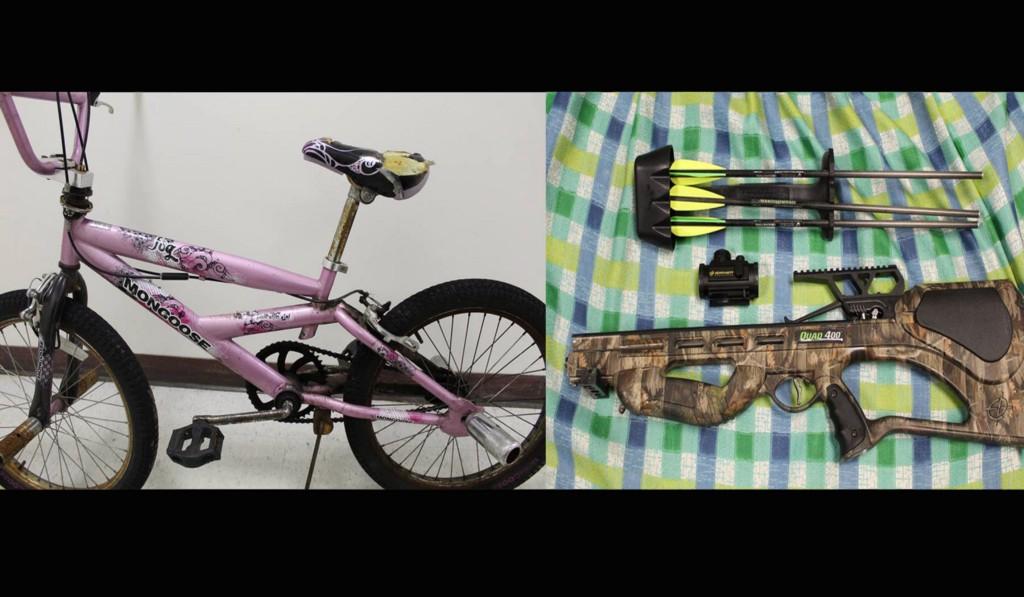 Evesham Police find allegedly stolen bike and crossbow when