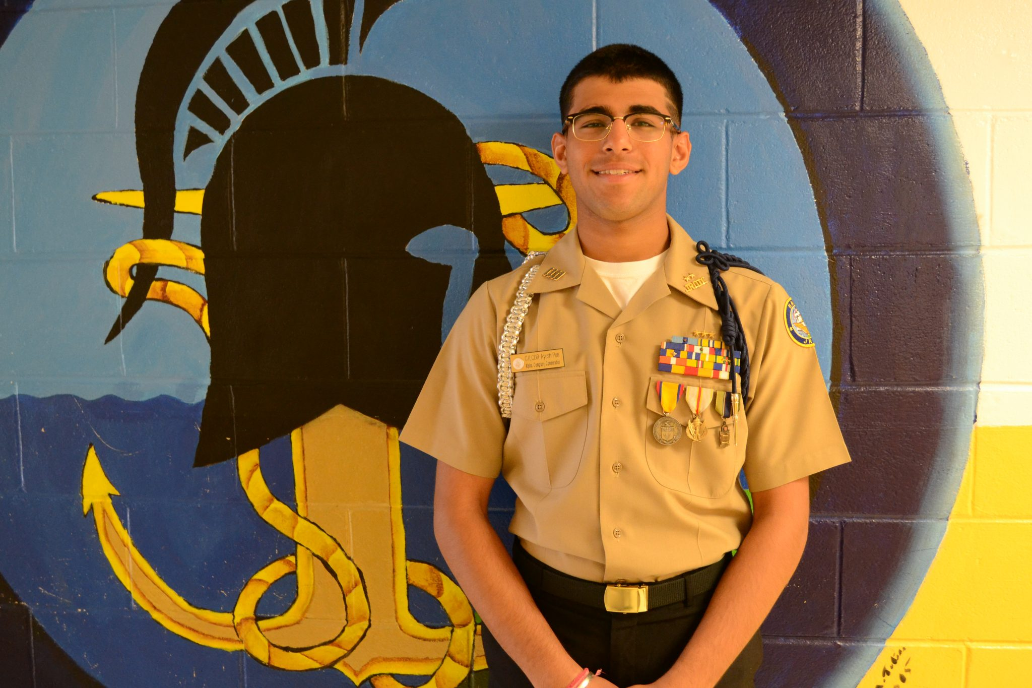 Ayush Puri awarded scholarship to attend Naval Academy - The