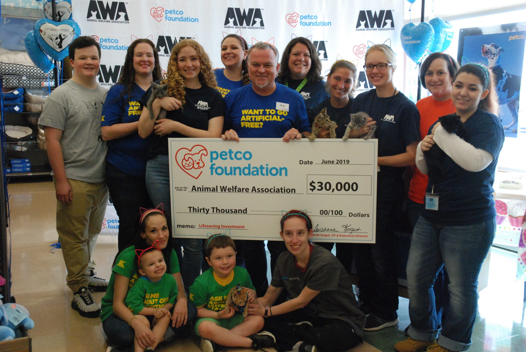 Awa Receives Grant Kicks Off Adoption Event The Sun Newspapers