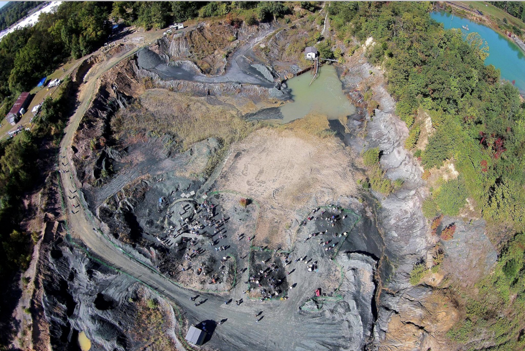 Aerial shot of fossil park in Mantua